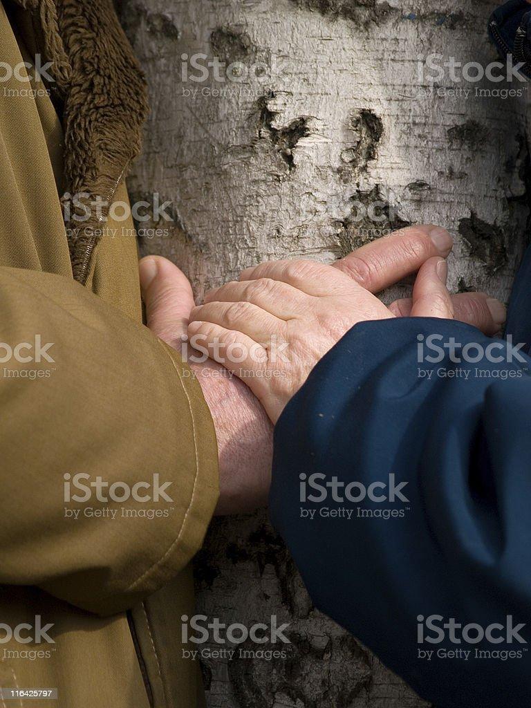 Loving hands stock photo
