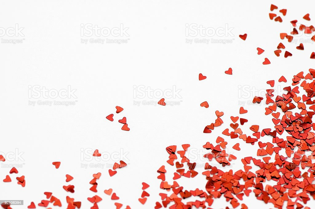 Loving Hearts Confetti royalty-free stock photo