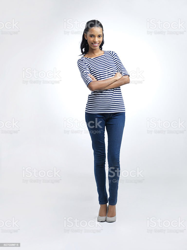 Loving her casual look stock photo