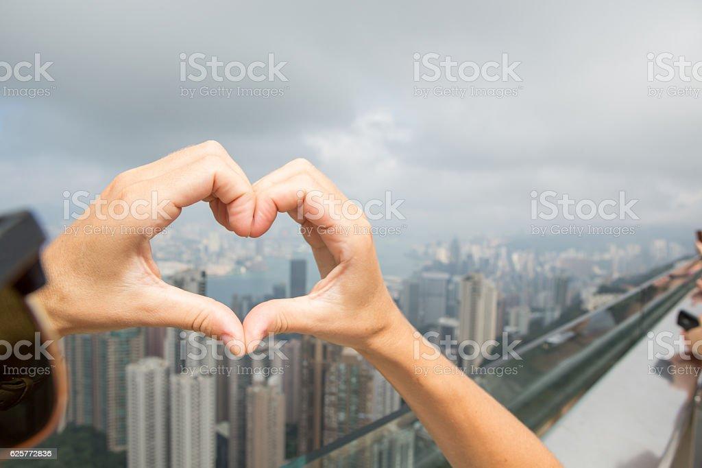 Loving Hong Kong stock photo