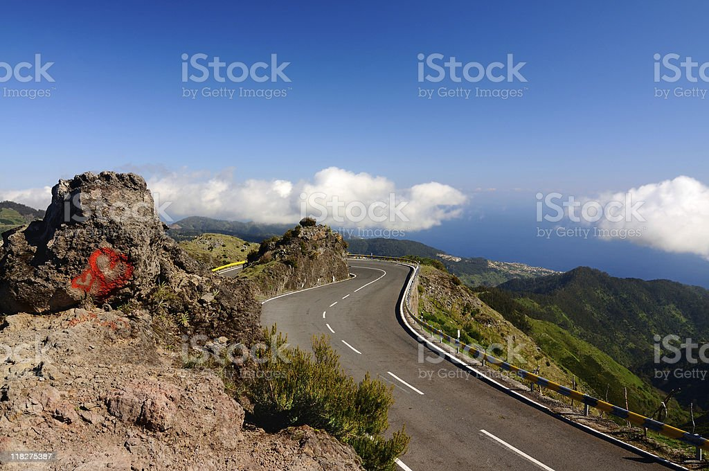 Loving Madeira Roads in the Mountains Spring royalty-free stock photo