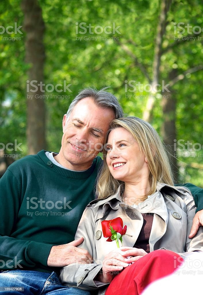 Loving Mature Couple royalty-free stock photo