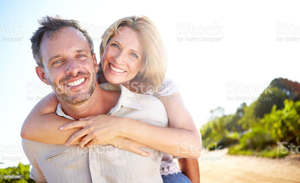 Loving moments shared together stock photo