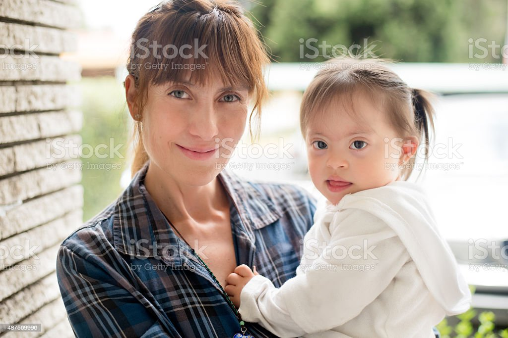 Loving mother and child stock photo