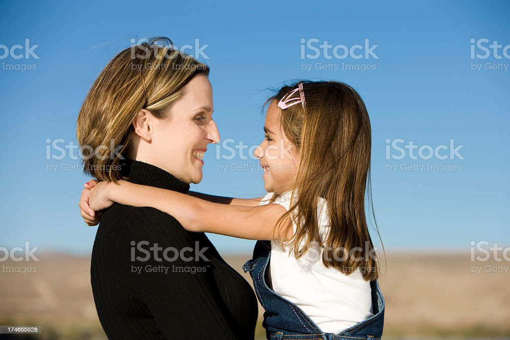 Loving Mother and Daughter royalty-free stock photo