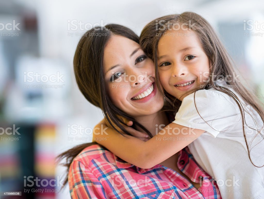 Loving mother and daughter stock photo