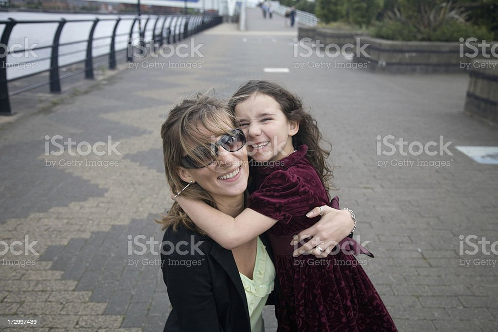 Loving Mother and Daughter-More of same family below stock photo