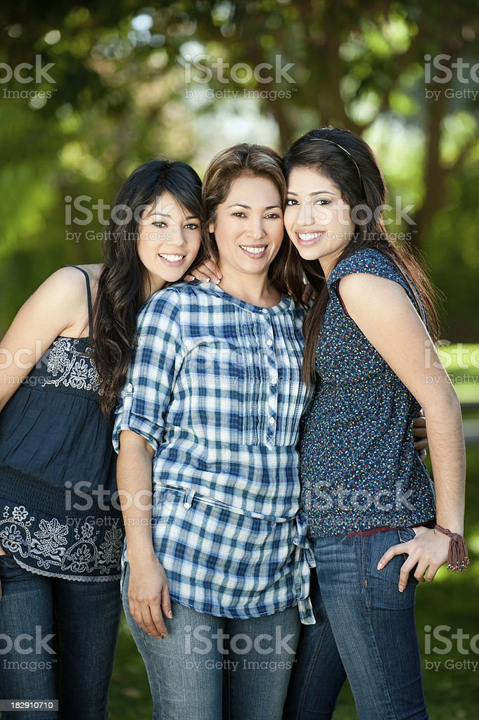 Loving mother and daughters royalty-free stock photo