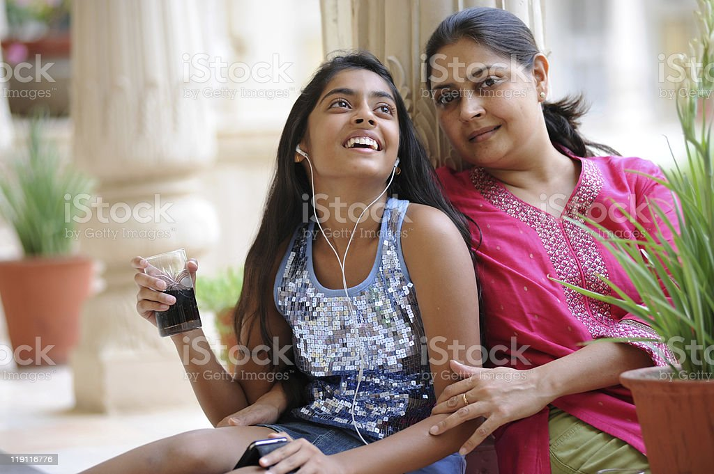 Loving mother with daughter royalty-free stock photo