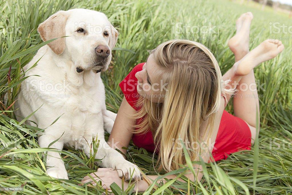 loving my dog stock photo