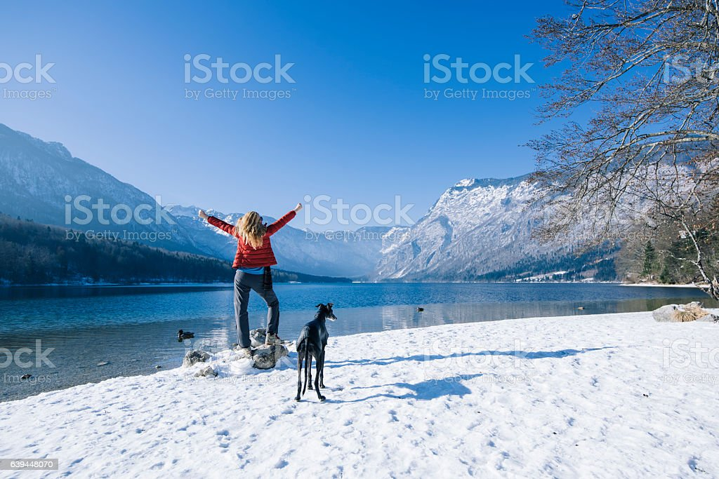 Loving my life on days like this stock photo
