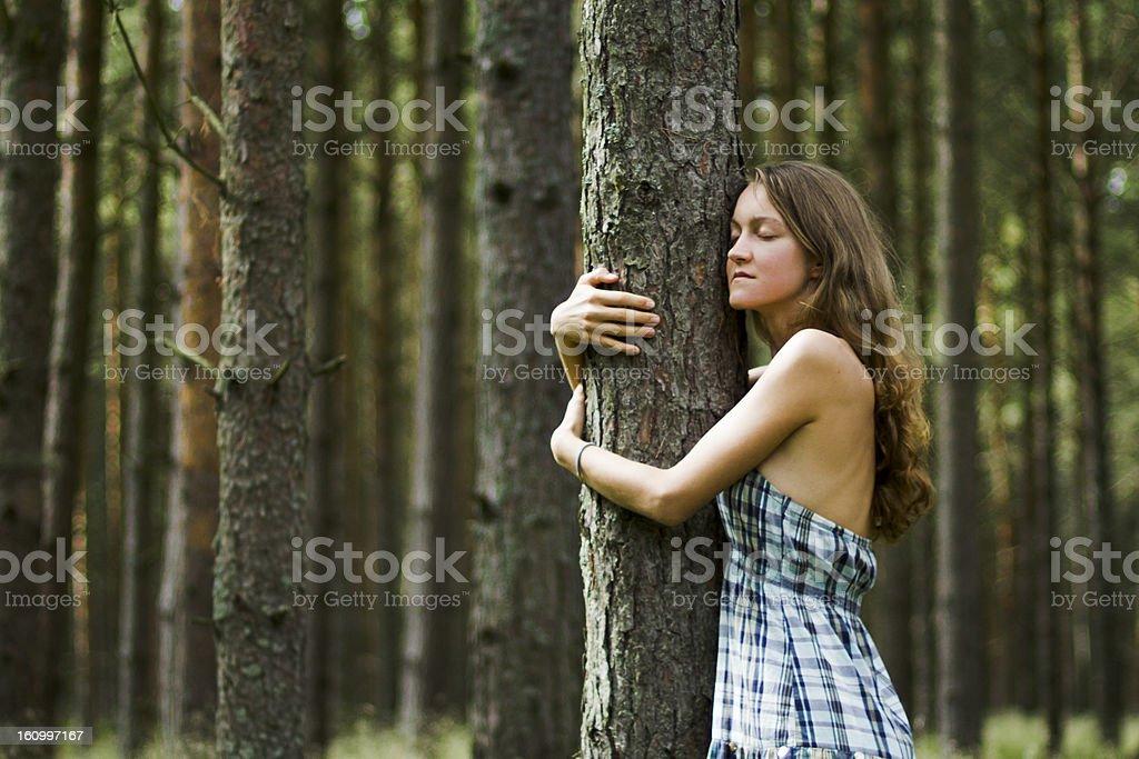 Loving Nature royalty-free stock photo