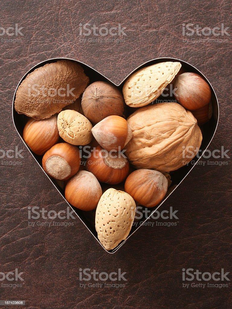 Loving nuts stock photo