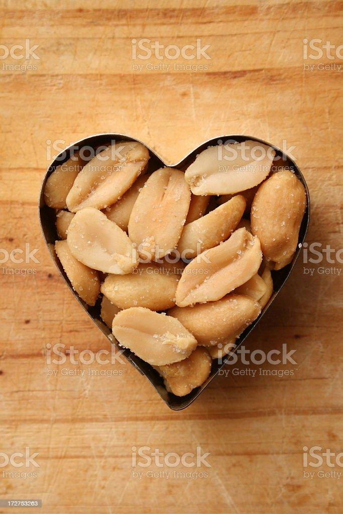 Loving peanuts royalty-free stock photo
