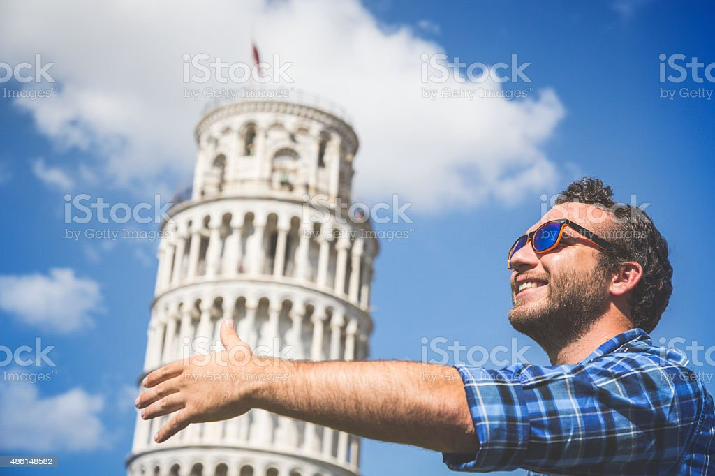 Loving Pisa stock photo