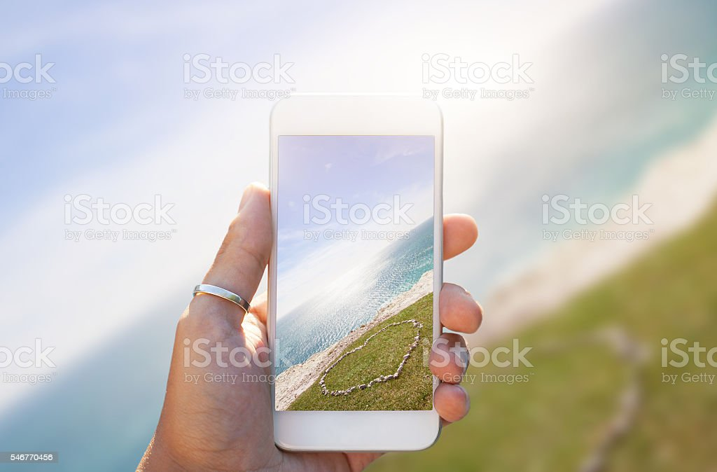 Loving place - Smartphone stock photo