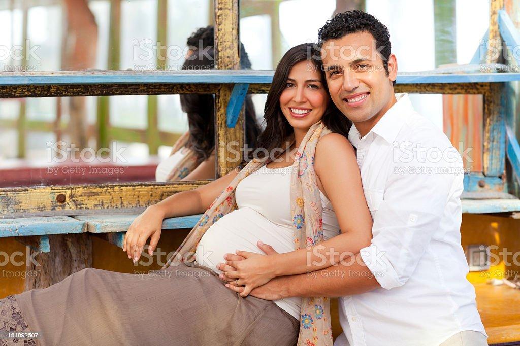 Loving pregnant couple royalty-free stock photo