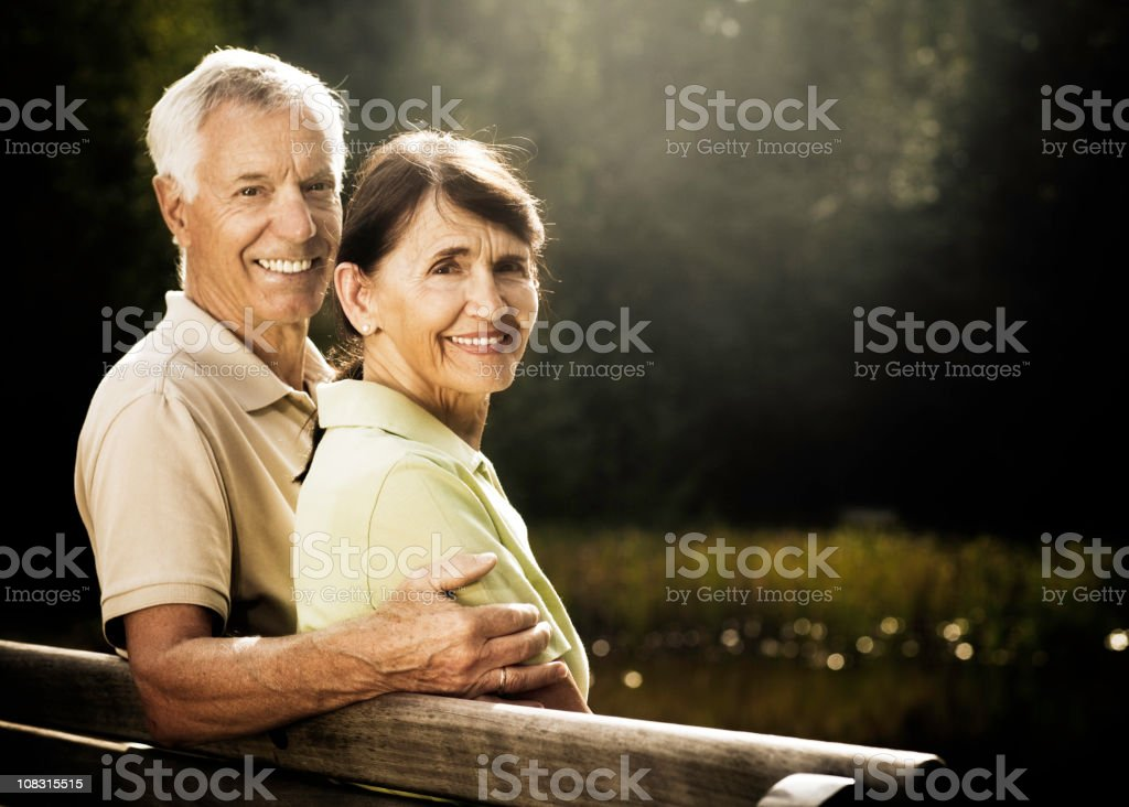 Loving Retired Senior Couple royalty-free stock photo