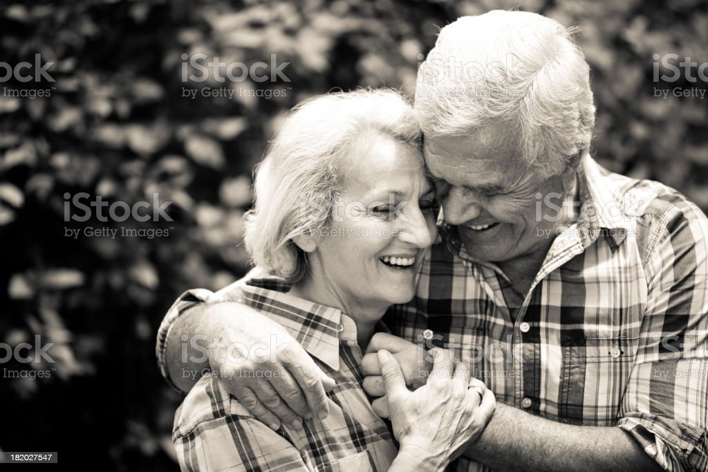 Loving senior couple royalty-free stock photo