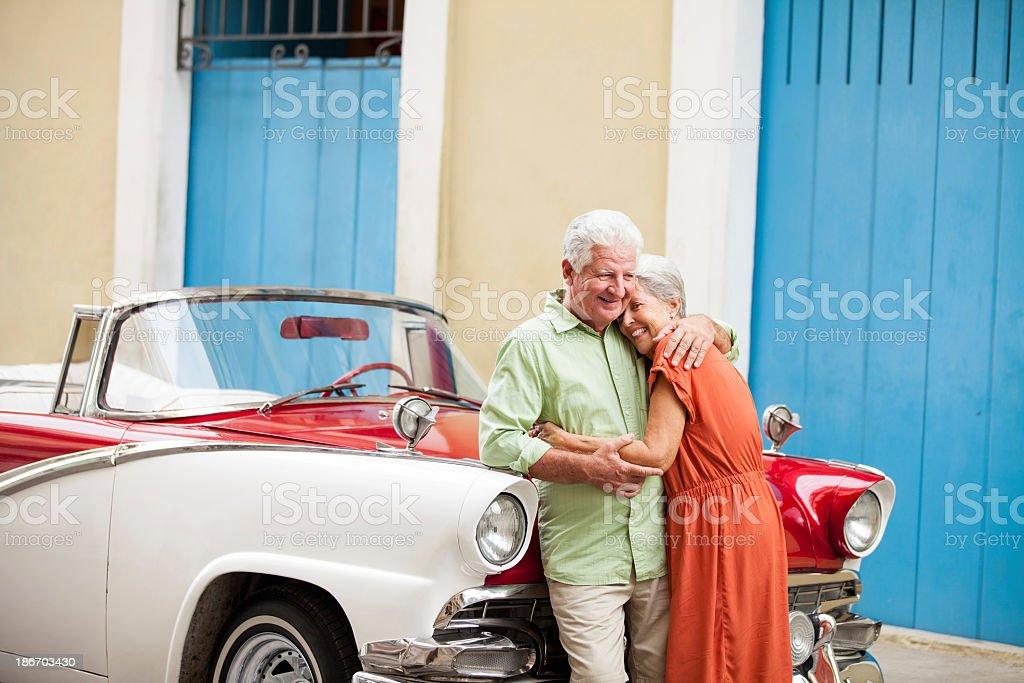 Loving senior couple royalty-free stock photo