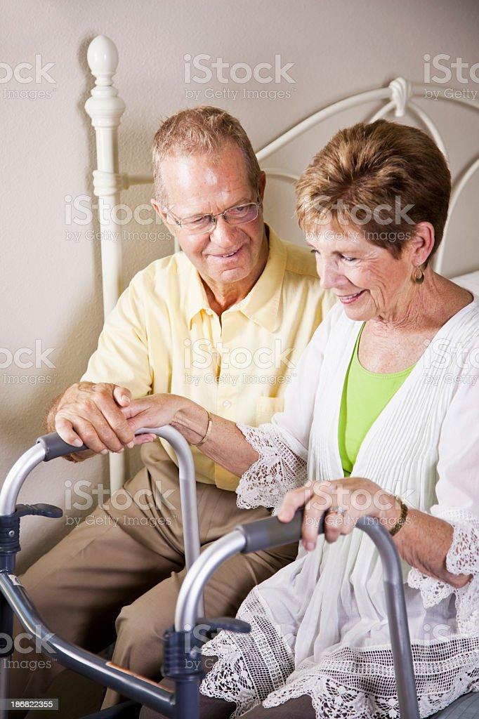 Loving senior couple stock photo