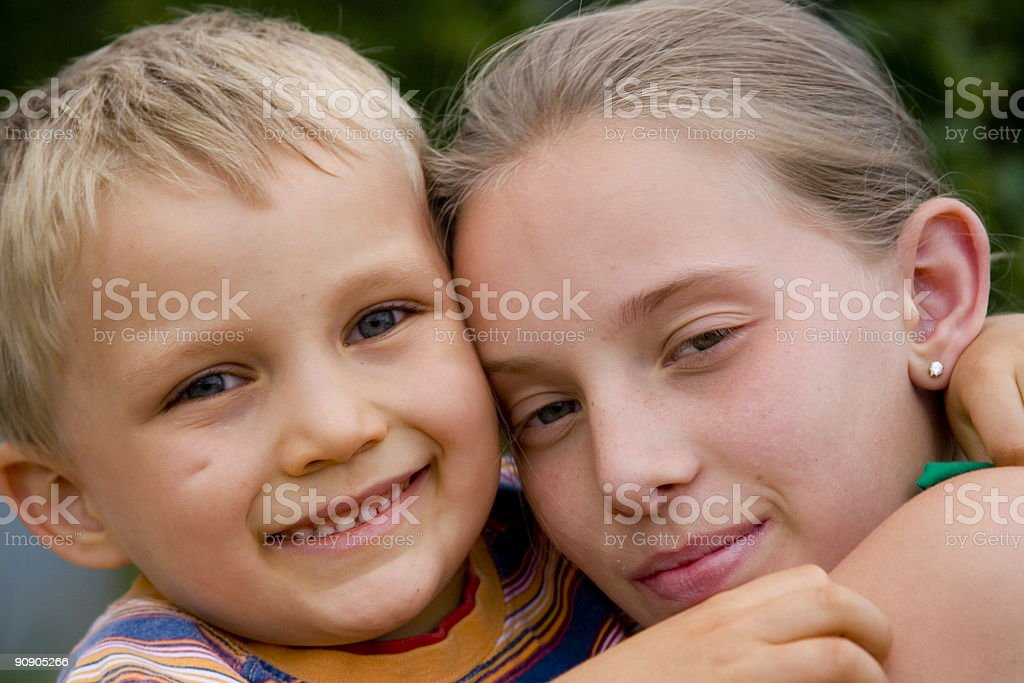 Loving siblings royalty-free stock photo