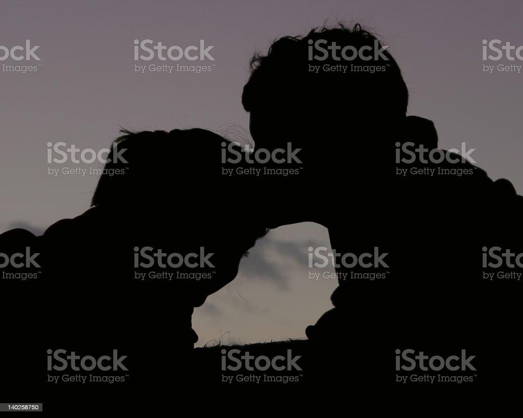 Loving Silhouettes stock photo