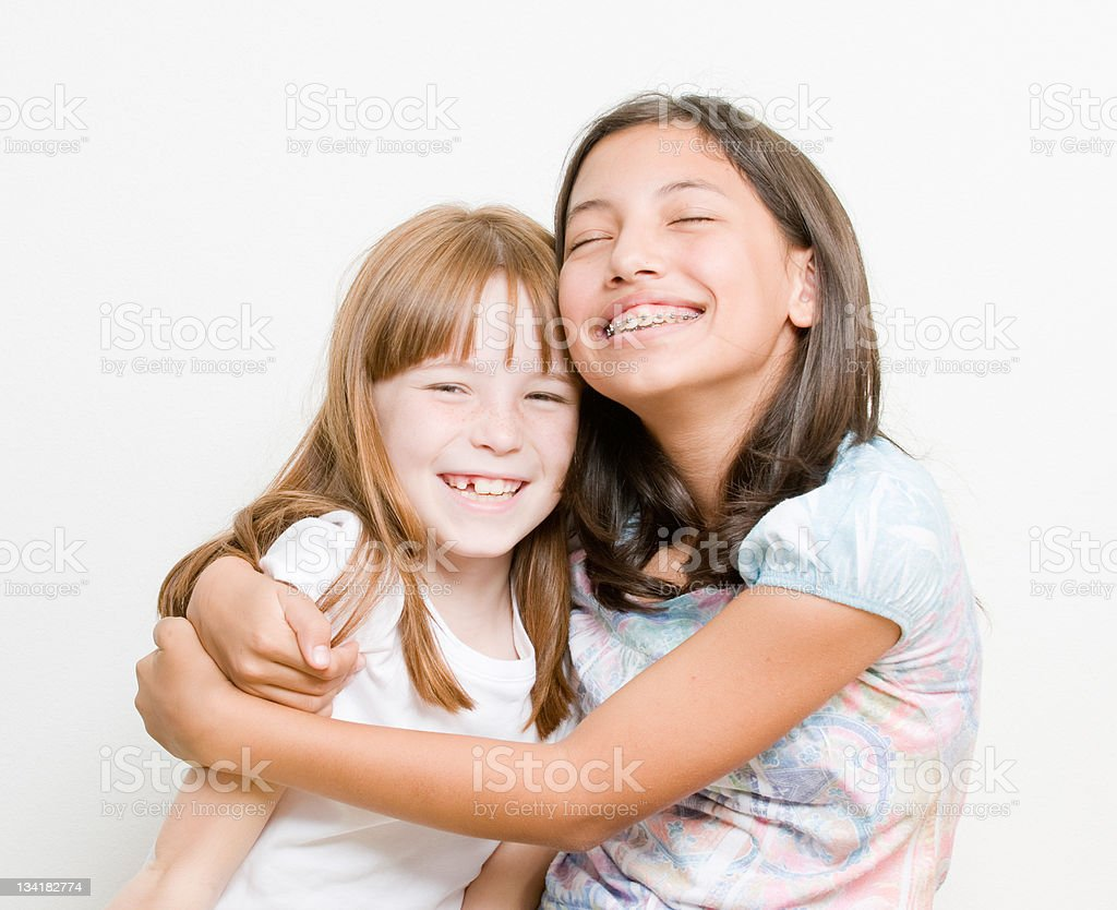 Loving Sisters royalty-free stock photo