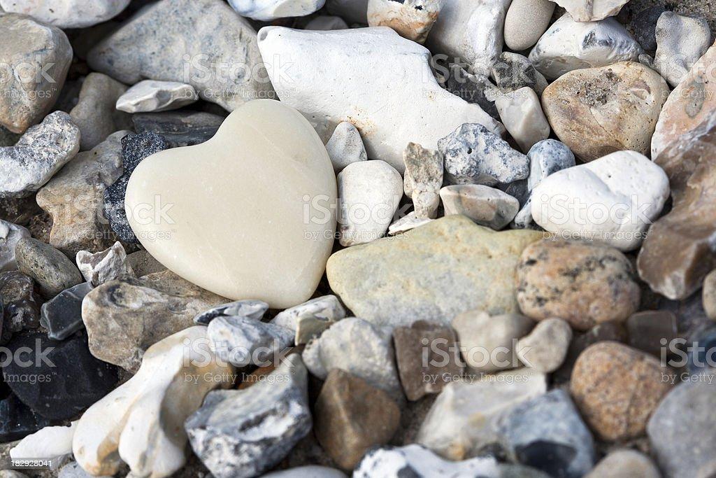 Loving stone stock photo