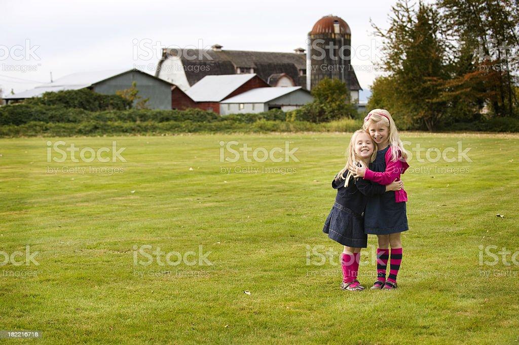 Loving the farm stock photo
