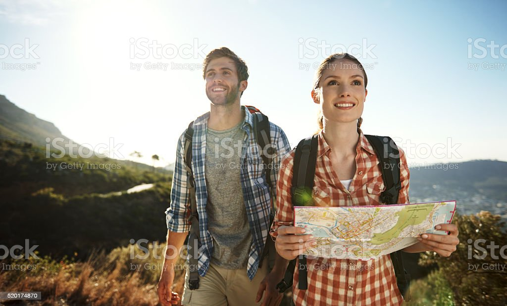 Loving the great outdoors stock photo