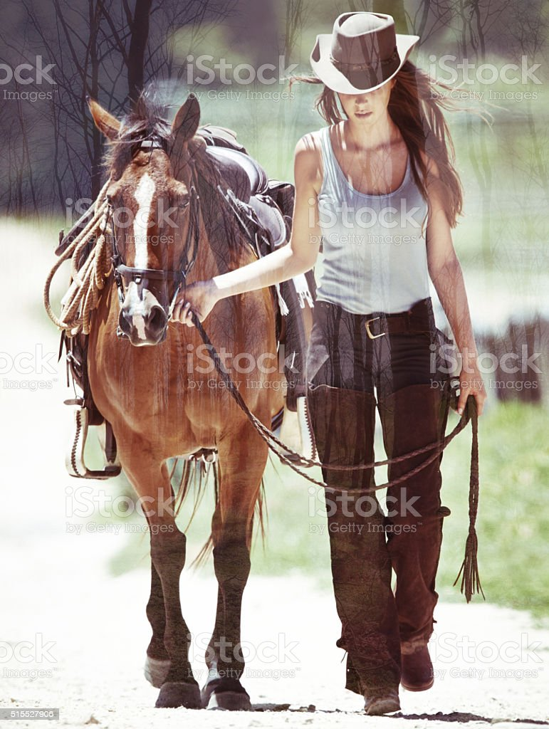 Loving the outdoors stock photo