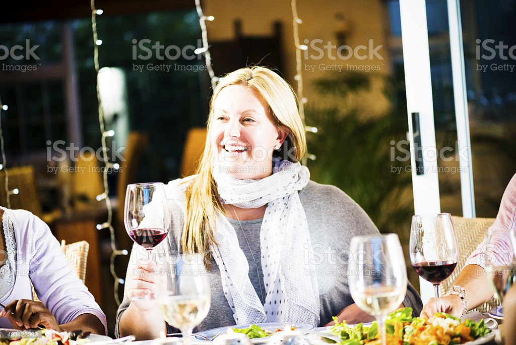 Loving The Wine royalty-free stock photo