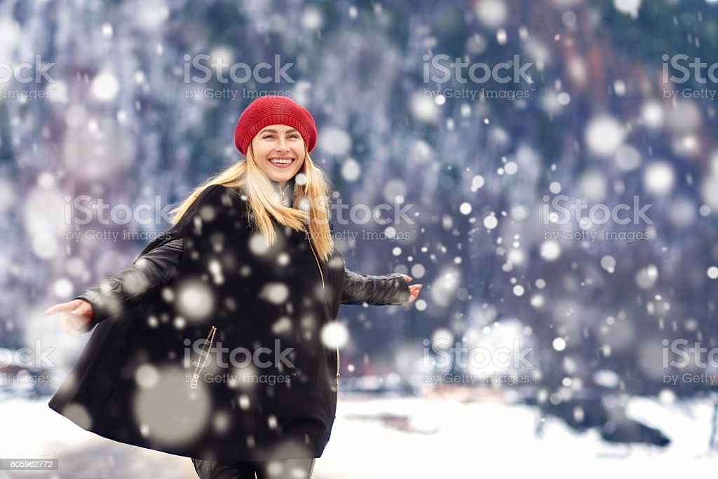 loving the winter stock photo