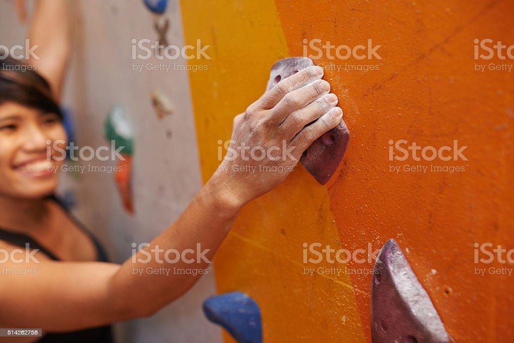 Loving to climb stock photo