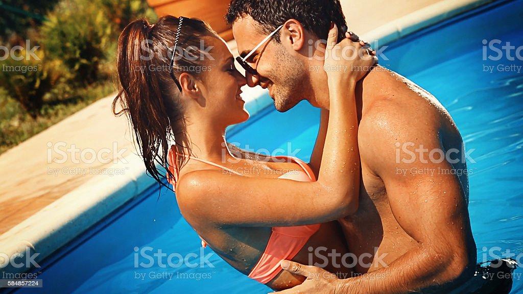 Loving vacation. stock photo