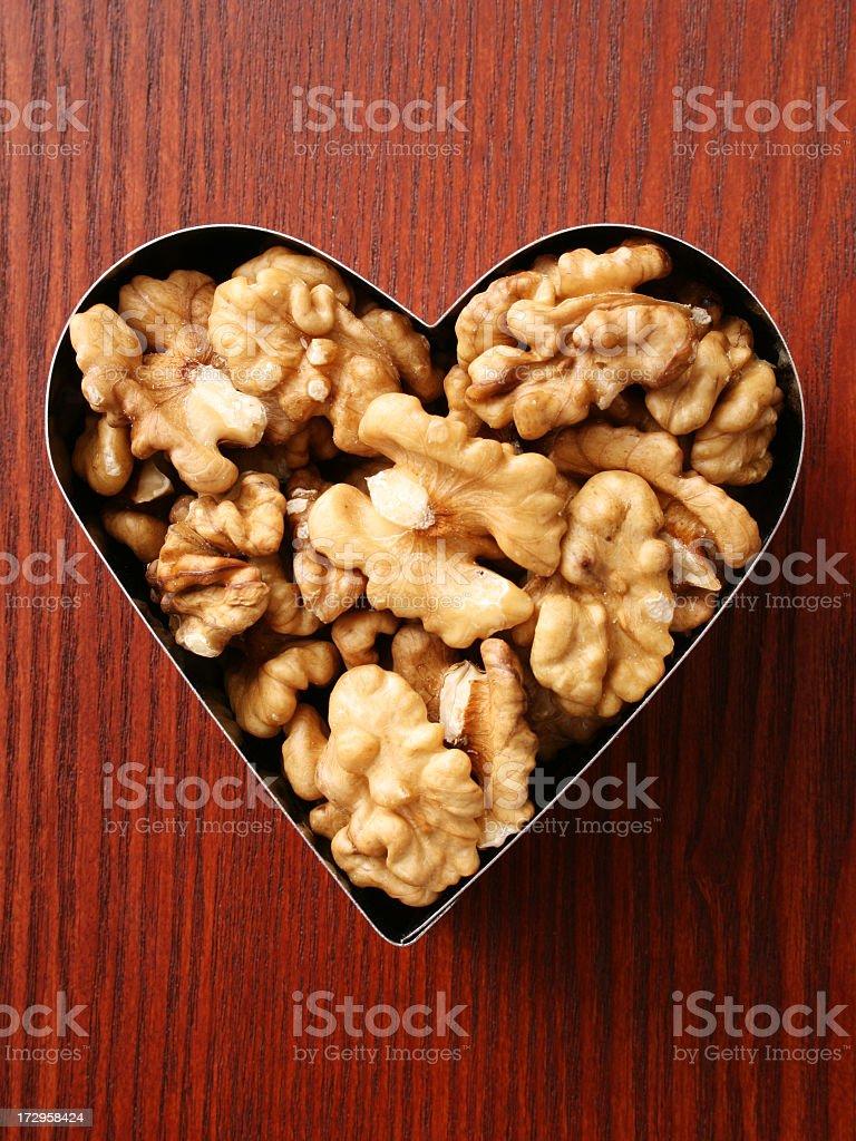 Loving walnuts royalty-free stock photo