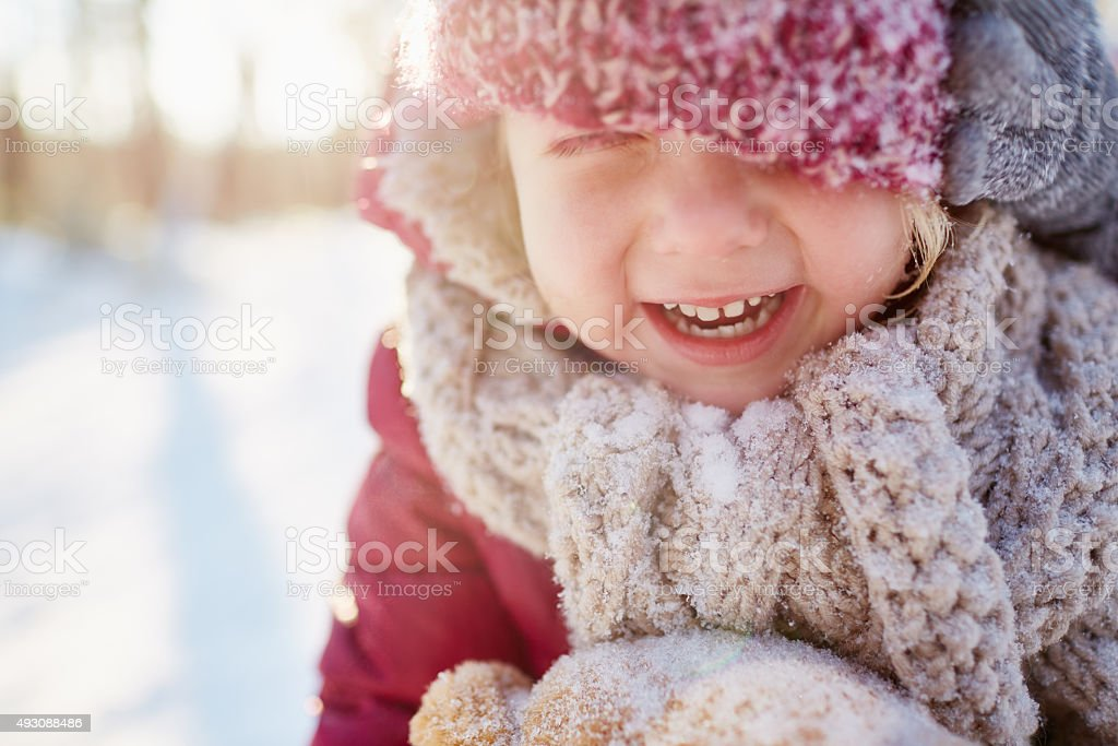 Loving winter stock photo
