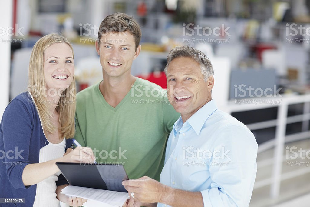 Loving working together as a team royalty-free stock photo