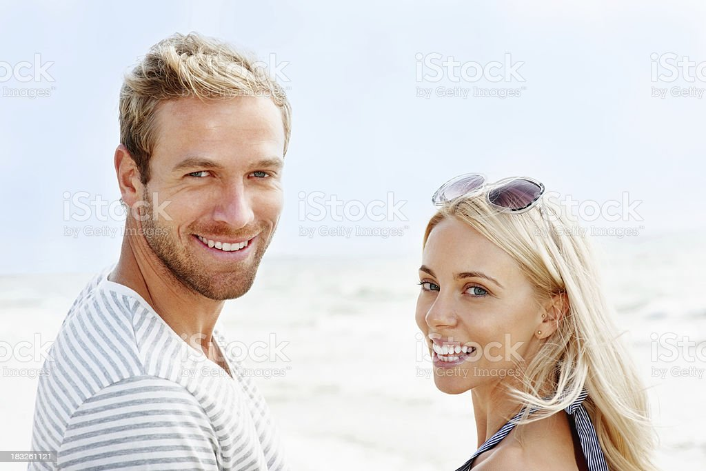 Loving young couple enjoying their vacation on a sunny day royalty-free stock photo