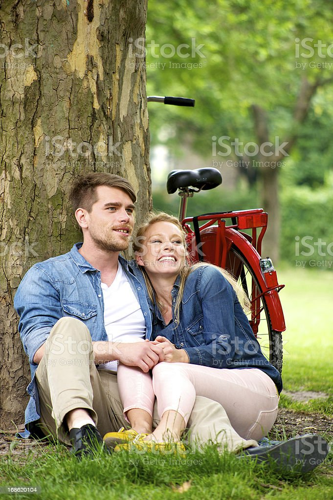 Loving Young Couple royalty-free stock photo