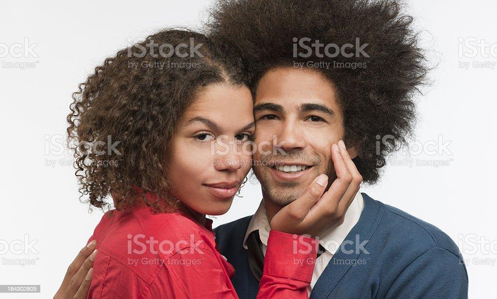 loving young couple, XXXL image royalty-free stock photo