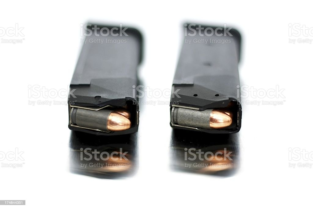 Low and High Capacity Magazines stock photo