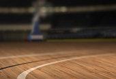 Low Angle Basketball Court Floor