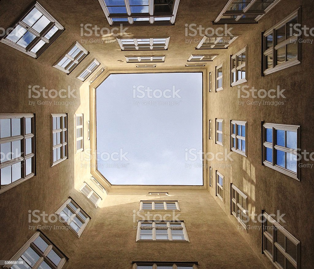 Low angle building view stock photo
