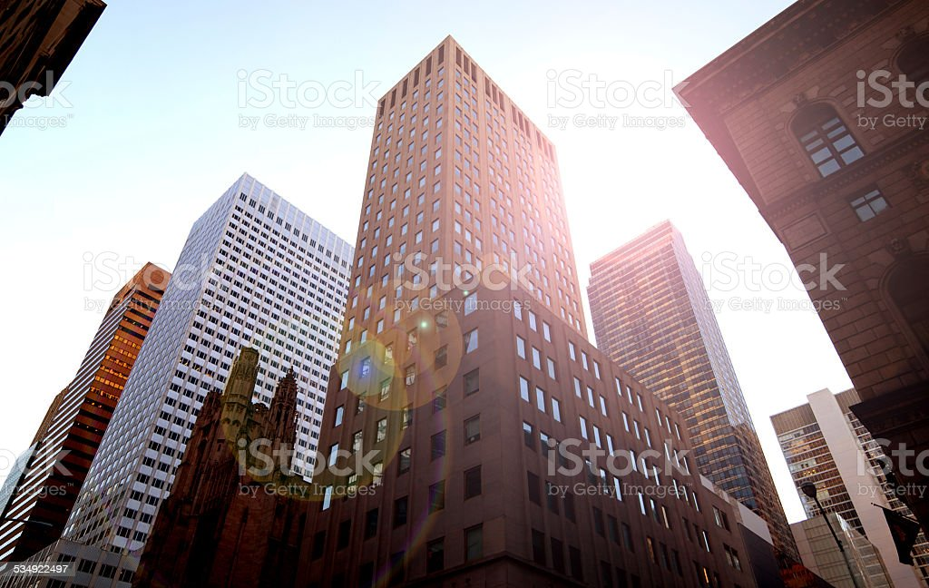 Low Angle Buildings stock photo
