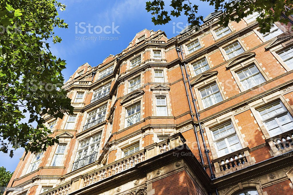 Low Angle Photo of Townhouses, London, UK royalty-free stock photo