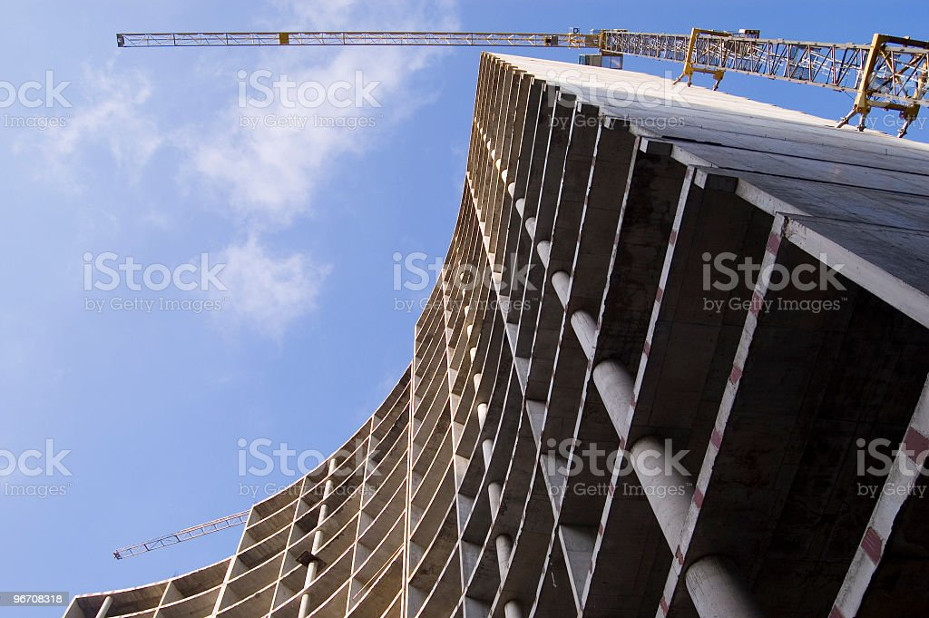 Low angle picture of building skyscraper stock photo