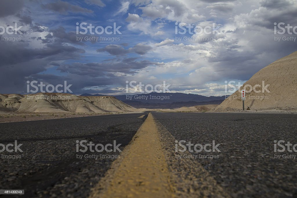 Low angle road royalty-free stock photo