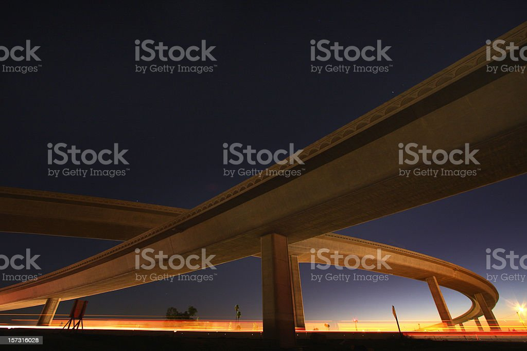Low angle shot of a free day overpass stock photo